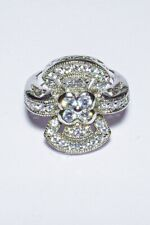 Silver And Cz Ring 7.5grams Size: 7 #3861