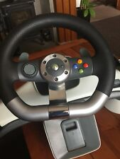 Xbox 360 official steering wheel  Racing  Steering Wheel with foot pedal,leads