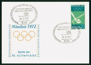 MayfairStamps Germany 1972 München Field Hockey Hameln Cover wwp80135