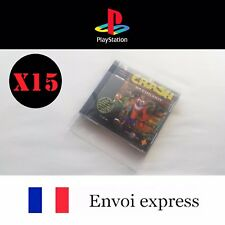 15X Protection transparente boite Playstation PS1 -boitier protector box sleeve