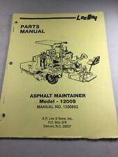 Leeboy Model 1200s Asphalt Maintainer Parts Manual