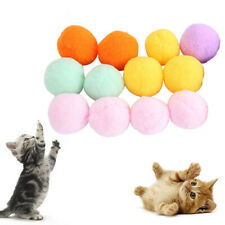 12Pcs Pet Cat Kitten Ball Toy Set Fun Game Woolen Yarn Exercise Scratch Play Toy