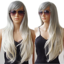Natural Hair Wig Long Curly Straight Ombre Wigs Women Ladies Cosplay Party Dress