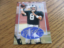 "1997 TROY AIKMAN , STRONG BOX  ""GOLD  AUTO COLLECTION  CARD, FACS  DALLAS  HOF*0"
