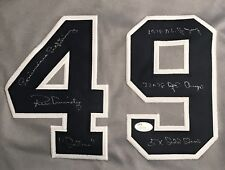 "Ron Guidry ""5x Inscribed"" Autographed Custom New York Yankees Jersey w/ JSA COA"