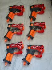 Lot of Six (6) Nerf N-Strike Mega BIGSHOT Pistol Red