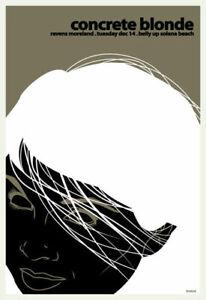 Scrojo Concrete Blonde Ravens Moreland Belly Up Tavern 2010 Poster Blonde_1012