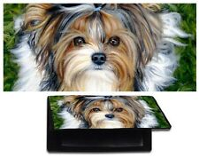 BIEWER parti YORKIE CHECKBOOK cover YORKSHIRE TERRIER dog art painting TIKI