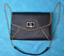 KARDASHIAN Chain Trim BLACK SHOULDER BAG. UNUSED. rrp$39.99 TRENDY Chain Strap