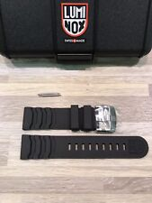 "Luminox ""Master Carbon Seal 3800 Series"" Rubber Strap/Band: Gray 24mm Authentic"
