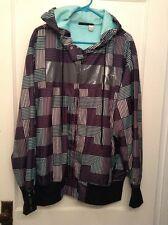 Rocawear Hooded Jacket Windbreaker Blue Mens Size XL