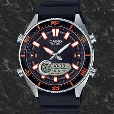 Casio Amw-720-1av Mens Black Analogue and Digital 50m WR Watch Tide Graph