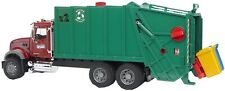NEW Bruder Mack Granite Rear Loading Garbage Truck Red Green 02812