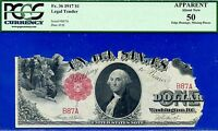 """FR-36 1917 $1 US Note """""""" 2 Digit """""""" (( Birthday Note )) PCGS 50 Apparent # B87A"""
