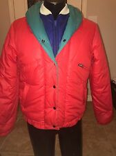 Vtg 80s Activa Four tone zip up Woman's Jacket Size Large 90's