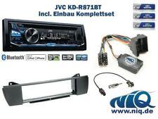 BMW Z4 (mit Quadlock) Autoradio Einbauset *Anthrazit* inkl. JVC KD-R871BT und ..