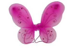 """1 - ( 12"""" x 10"""" ) Butterfly Fairy Costume TODDLER WINGS CHOOSE Color"""