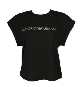 SG T-shirt maglietta donna manica corta collo tondo cotone  EMPORIO ARMANI artic