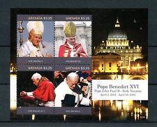 Grenada 2015 MNH Pope Benedict XVI Pope John Paul II Sede Vacante 4v M/S Stamps