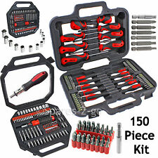 150 Pce Mechanics Screwdriver Nut Driver Bits Socket Bit Tool Set Phillips Torx