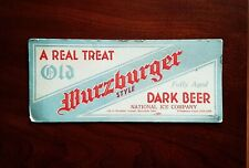 Pre-Pro Old Wurzburger Dark Beer ink blotter from Mansfield Ohio - Cool !