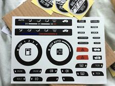 Kit set stickers decals crx delsol del sol honda dashboard button switch eg2 eh6