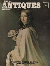 ART & ANTIQUES WEEKLY (14 September 1972) BAXTER PRINTS - CLOCKS AT AUCTION