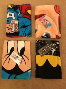 Disney Little Mermaid Minnie Mouse DC Batman Marvel Towel Holiday Beach Primark