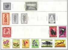 Ruanda-Urundi Stamps, Lot of 11, Mint, Hinged, Animals, Flowers