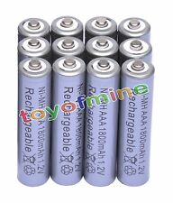 12x AAA 1800mAh 1.2V Ni-MH Rechargeable battery 3A Grey Cell for MP3 RC Toys