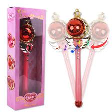 Anime Sailor Moon 20th Cosplay Tsukino Usagi Musical Magic Flash Wand Rod Gift