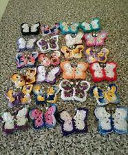 Crochet farfalline  multicolore lavorate interamente all'uncinetto- bomboniere