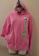 Disney World Pink TINK Zip Hooded Jacket w/Tinkerbell Sz Large