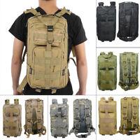 30L Outdoor Military Rucksack Tactical Backpack Camping Hiking Trekking Bag Camo