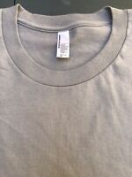 """New American Apparel Men's T-Shirt """"The Summer Shirt"""" Gray size Large,"""