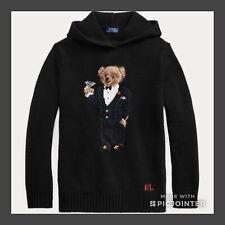 POLO RALPH LAUREN Polo Bear Wool-Blend Hoodie wmns Sz S NWT$299.99