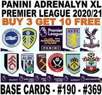 PANINI ADRENALYN XL PREMIER LEAGUE 2020-2021 20/21 BASE CARDS #190 - #369