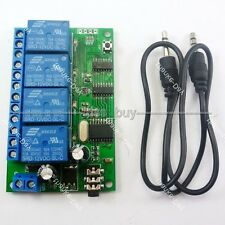 4CH DTMF MT8870 Audio Decoder Smart Home Relay Controller Voice Phone Control