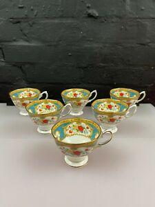 6 x Royal Albert Liberty Rose Pattern Tea Cups Last Set Available