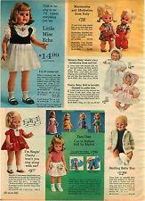 1965 ADVERT Mattel Doll Dee Dee Singin Chatty Little Miss Echo Italy