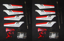 USA 2 Sets Syma S107 G Helicopter Parts Main Tail Blade Balance Bar Gear RED