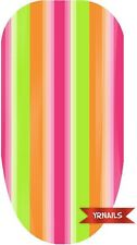 Nail WRAPS Nail Art Water Transfers Decals - Colourful Stripes - W085