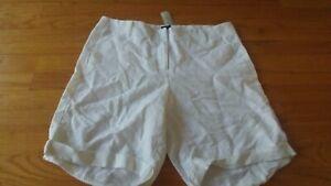 NEW Ann Taylor Shorts Sz 10 White Linen NEW w/tags $49.99 Cuffed