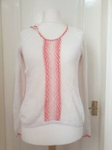 TOMMY BAHAMA Size S/P Hooded Open Knit Jumper- Linen/Cotton Blend- Spring,Beach