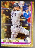 2019 Topps Update #US45 BRENDAN RODGERS Rookie Gold Parallel SP /2019