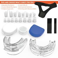 Stop Snoring Sleep Apnea Mouthpiece Adjustable Anti Snore Mouth Guard Set of 13