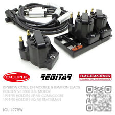 IGNITION COILS, DFI MODULE & RACEWORKS LEADS V6 3800 3.8L HOLDEN VP-VR COMMODORE