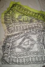 Codello XXL Schal gemustert grau gelb grün ca 1,95*1,00m