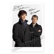 Benedict Cumberbatch & Martin Freeman - Sherlock - Autogrammfoto laminiert 