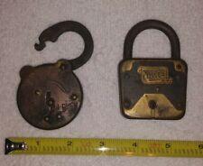New Listingvintage old pad locks lot of 2 miller steel state